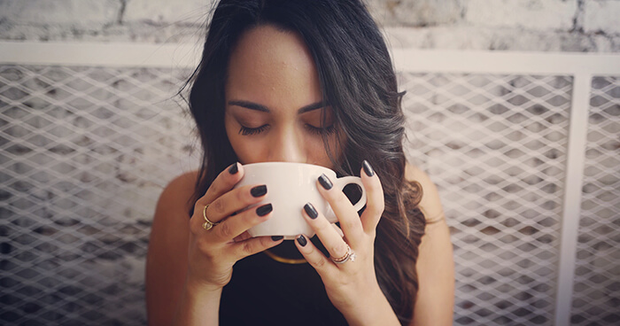 Mindfully drinking tea