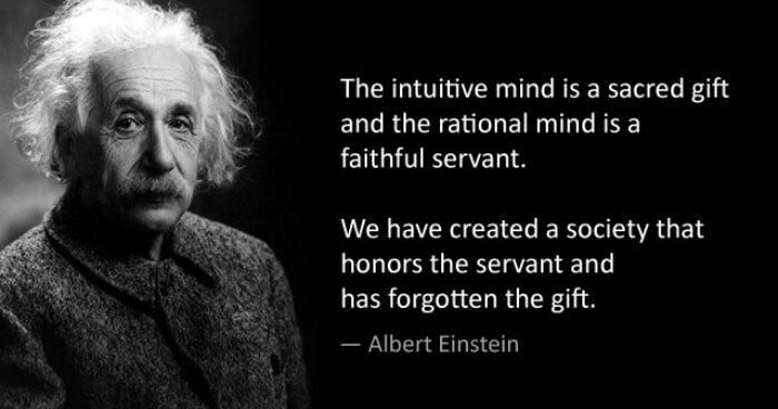 Einstein intuitive mind quote